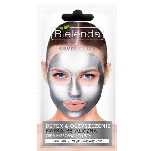 BIELENDA Silver Detox Maska Metaliczna 8g