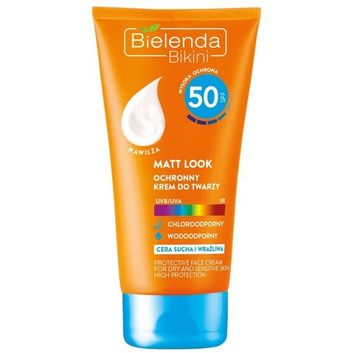 BIELENDA Bikini Matt Look SPF 50 Ochronny Krem Do Twarzy 50ml
