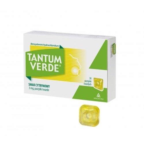 ANGELINI TANTUM VERDE Smak Cytrynowy 30 Pastylek Twardych