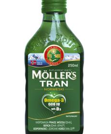 ORKLA MOLLER'S Tran Norweski Omega-3 600IU wit D3 250 ml