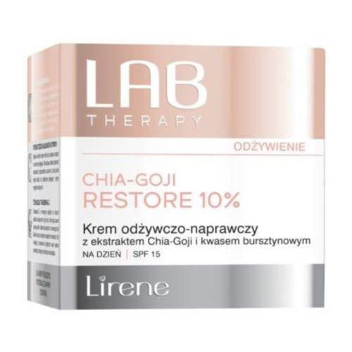 DR IRENA ERIS Lirene LAB Therapy Odzywienie Chia - Goji Restore 10% Krem Odzywczo - Naprawczy Dzien SPF 15 50ml