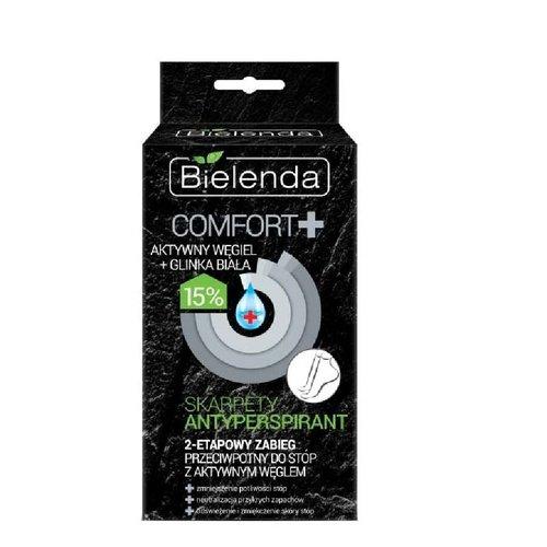 BIELENDA Skarpety Antyperspirant COMFORT+ Aktywny Węgiel i Biała Glinka 15% 2szt