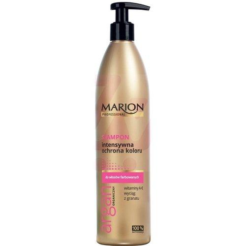 MARION Professional Szampon Intensywna Ochrona Koloru Wlosy Farbowane Argan Organiczny 400g
