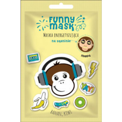 MARION Funny Mask Malpa Maska Energetyzująca Na Tkaninie 1SZT
