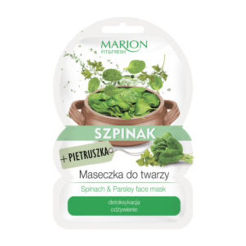 MARION Fit & Fresh Spinach & Parsley Face Mask 9g