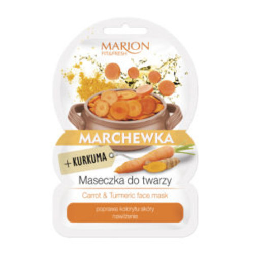 MARION Fit & Fresh Carrot & Turmeric Face Mask 9g
