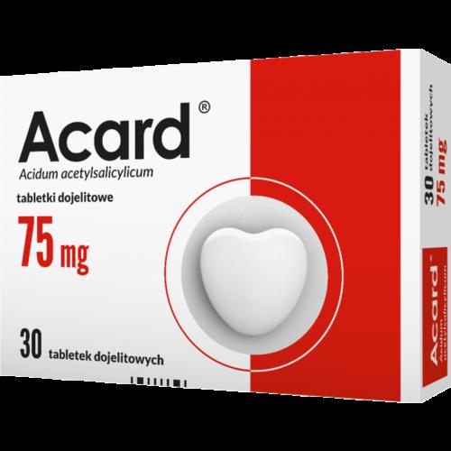 POLFA WARSZAWA Acard 75 mg 60 Tabletek