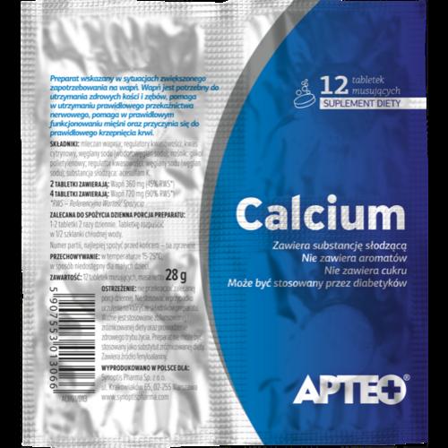 APTEO Calcium 12 Tabletek Musujacych