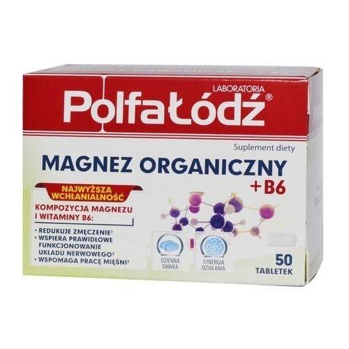 URGO POLFA LODZ MAGNEZ ORGANICZNY + B6 50 tabl