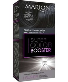 MARION Farba do Włosów Super Color Booster Efekt 3D 500 Czarna Lukrecja