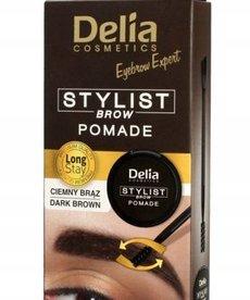 DELIA Delia- Stylist Brow Pomade Dark Brown, Pomada Do Brwi Ciemny Braz