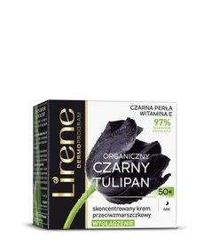 LIRENE Organiczny Czarny Tulipan  Krem Przeciwzmarszczkowy 50+ Noc 50ml
