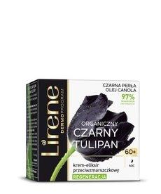 LIRENE Organiczny Czarny Tulipan Krem-Eliksir Przeciwzmarszczkowy 60+Noc 50ml