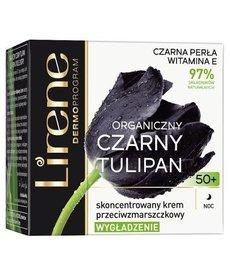 LIRENE Organiczny Czarny Tulipan Krem-Serum Przeciwzmarszczkowe 50+ Dzien 50ml