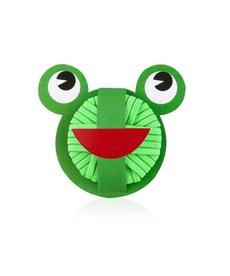 DONEGAL Zielone Gumki do Włosów  Sweet Frog 20 sztuk