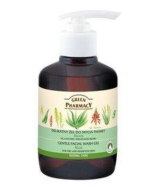 GREEN PHARMACY Delikatny Żel Do Mycia Twarzy Aloes Cera Sucha I Wrażliwa 270ml