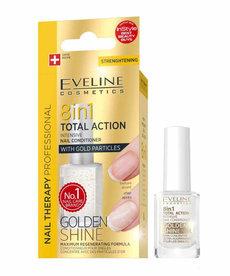 EVELINE 8w1 Golden Shine Odżywka do Paznokci z Drobinkami Złota 12m