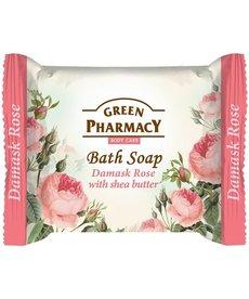 GREEN PHARMACY Mydło w Kostce Róża Damaceńska i Masło Shea 100g