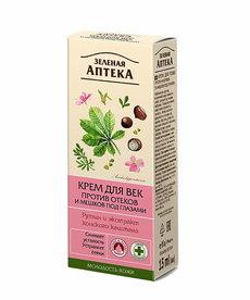 RUSSIAN COSMETICS Zielona Apteka Krem pod Oczy Przeciw Obrzękom Rutyna 15ml