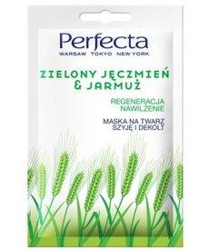 PERFECTA Maska na Twarz Szyję i Dekolt Zielony Jęczmien i Jarmuż 10ml