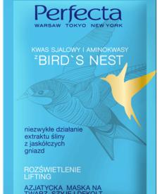 PERFECTA Bird's Nest Azjatycka Maska do Twarzy Rozświetlenie i Lifting 10ml