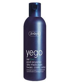 ZIAJA Yego Żel pod Prysznic 3w1 dla Meżczyzn Twarz Ciało Włosy 300ml