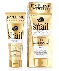 EVELINE Royal Snail Matujący Krem BB  8w1 Przeciw Niedoskonałościom 50ml