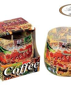 ADPAL Świeca w Szkle o Zapachu  Kawy