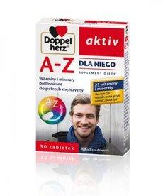 DOPPEL HERZ AKTIV A-Z dla Niego Witaminy i Minerały dla Mężczyzn 30 tabletek