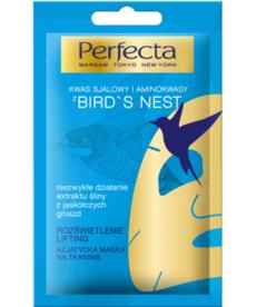 PERFECTA Bird`s Nest, Azjatycka Maska na Tkaninie  Rozświetlenie i Lifting
