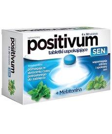 AFLOFARM Positivum Sen Tabletki Uspokajajace+Melatonina 180 tabletek