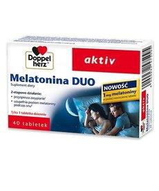 DOPPEL HERZ Active Melatonina Duo 40 tabletek
