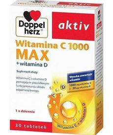 DOPPEL HERZ Active Witamina C 1000 Max+Witamina D 30 tabletek