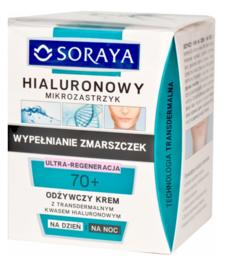 SORAYA Hialuronowy Mikrozastrzyk 70+ Ultra Regeneracja  Odżywczy Krem  50ml