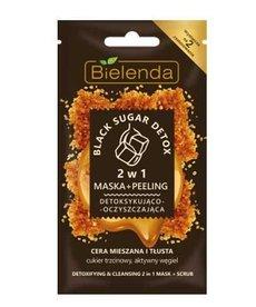 BIELENDA Black Sugar Detox 2w1 Maska Peeling Detoksująco Oczyszczająca 8g