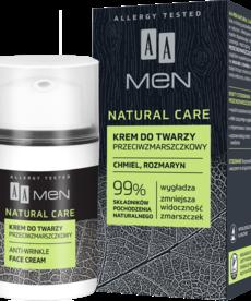 AA Natural Care Krem Przeciwzmarszczkowy do Twarzy dla Mężczyzn 50ml