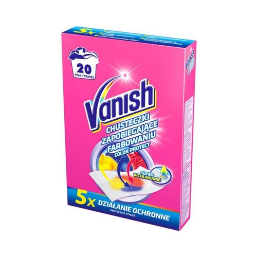 VANISH Chusteczki Zapobiegajace Farbowaniu 5szt