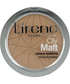 LIRENE City Matt Mineralny Puder Matujący 03 Beżowy 9g