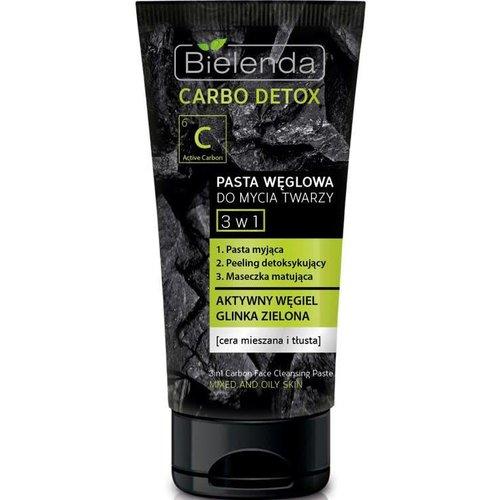 BIELENDA Carbo Detox 3w1 Pasta Weglowa Do Mycia Twarzy 150g