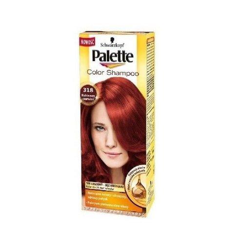 SCHWARZKOPF PALETTE- Color Shampoo Szampon Koloryzujacy Nr 318 Rubinowa Czerwien