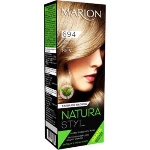 MARION Natura Styl Farba Do Wlosow Popielaty Blond 694