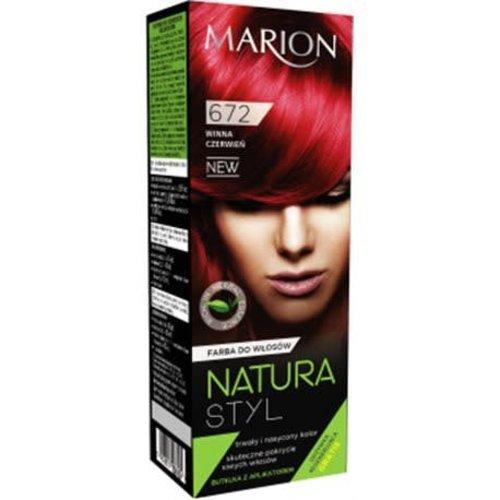 MARION Natura Styl Farba Do Wlosow Winna Czerwien 672