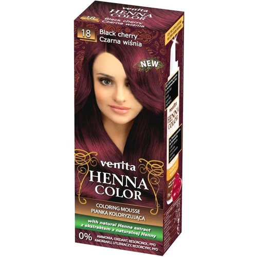 VENITA Henna Color Pianka Koloryzujaca Czarna Wisnia 18