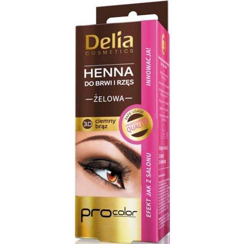 DELIA DELIA- Henna Do Brwi i Rzes Zelowa 3.0 Ciemny Braz 15ml