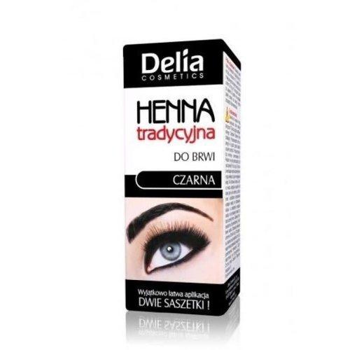 DELIA DELIA- Henna Do Brwi Tradycyjna 1.0 Czarny 2g 2ml