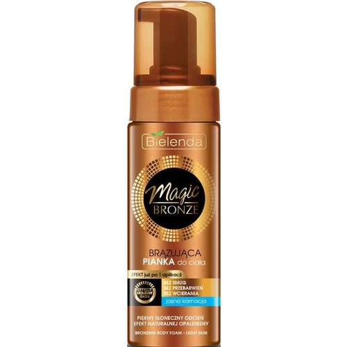 BIELENDA Magic Bronze Brazujaca Pianka Do Ciala Jasna Karnacja 150ml