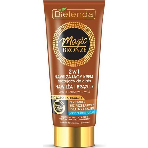 BIELENDA Magic Bronze 2w1 Brazujacy Krem Do Ciala Jasna Karnacja 200ml