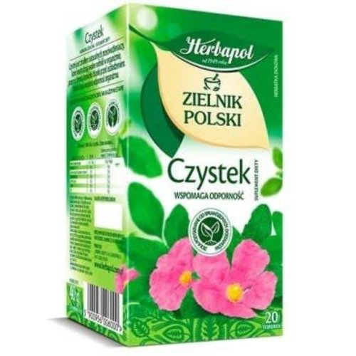 HERBAPOL Czystek Herbata Ziolowa 20 sasz