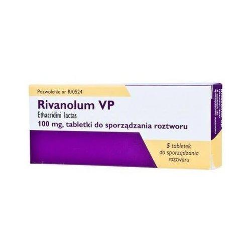 RIVANOLUM VP- Tabletki Do Sporzadzania Roztworu 5 tabl