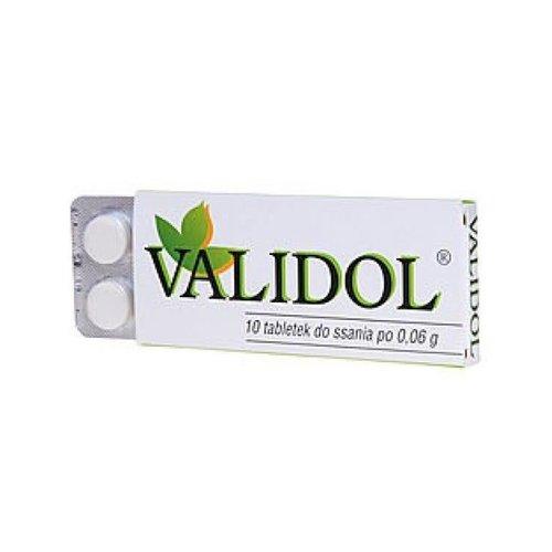 FARMAK VALIDOL- Tabletki Do Ssania 60 mg 10 tab